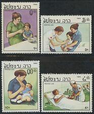 LAOS N°672/675** Médecine, Protection sanitaire TB, 1985 Health MNH
