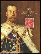 AUSTRALIA   2014  CENTENARY OF STAMPS KING GEORGE V  PRESTIGE BOOKLET IMPERF S/S