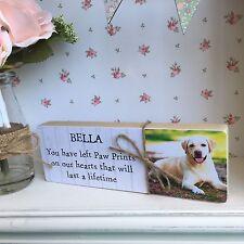 Personalised Wooden Pet Memorial Shelf Sitter Photo Block