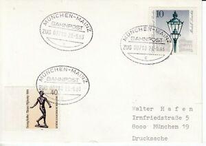Bahnpost   München - Mainz  1983