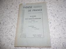 1945.Reliques de Sainte Thérèse (de Lisieux) à Paris + livret / Philipon..