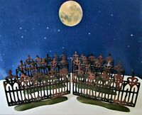 DEPT 56 Snow Village Halloween SPOOKY WROUGHT IRON FENCE Set of 6!  Scary