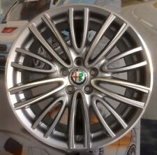 "A Set of 4 Alloy Wheels 8j+ 9jx18"" ALFA ROMEO GIULIA genuine rims OEM + TPMS"