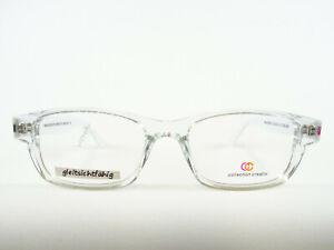 Transparent-weisse Brillenfassung helle Brille durchsichtig aus Kunststoff Gr. M