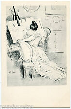 PAUL CéSAR HELLEU. JOLIE FEMME QUI DESSINE. BEAUTIFUL WOMAN WHO DRAWS. ESQUISSE