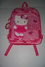 "SANRIO HELLO KITTY PINK CAMO GIRLS 16"" SCHOOL BACKPACK NWT!"