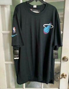 Men Miami Heat Nike Dri-Fit NBA Shirt Black Basketball AV1027-010 Size 3XL-TALL