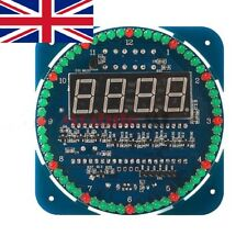 Rotating DIY DS1302 LED Electronic Digital Clock Kit 51 SCM Learning Board 5V UK