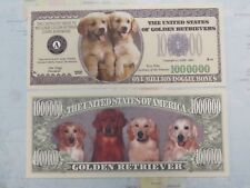 GOLDEN RETRIEVER: Dog Lovers Collectible ~ Fun $1,000,000 One Million Dollars