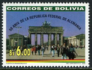 Bolivia 1097, MI 1459, MNH. Federal Republic of Germany, 50th anniv. 2000