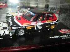 1:43 Ixo Talbot Samba Rallye 1983 R. Defour - B. Chenez #100 VP