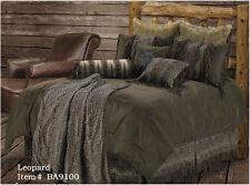 Leopard Western 5 Pc Super King Bedding Set- Comforter, Shams, Bedskirt & Pillow