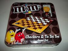 M & M's Checkers 7 Tic Tac Toe Game In Collectible Tin Box~New In Sealed Tin
