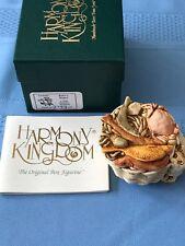 """Harmony Kingdom """"Kitty's Kipper"""" The Cat with a Basket of Fish,#Tjsep98F, Nib"""