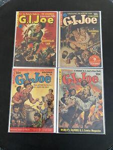 G I Joe #11 #12 #27 #32 Lot Of 4 Comics 1950s Golden Age Classic Covers🔥RARE🔥