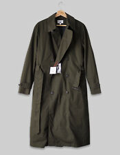 Ines De La Fressange Uniqlo Women Quilted Liner Long Trench Coat Olive NEW