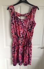 Ladies Pink Mix Evie Dress/Sundress - Size 14