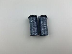 Lot Of 2 Kreinik 025 Grey #16 Medium Braid Thread Floss Sewing Canvas Work