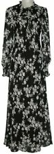 Calvin Klein Long Sleeve Floral Chiffon Maxi Dress CD0HJE33 Black 6/8 Nwt $139