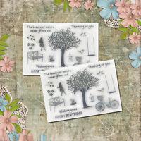 1STK Silikon Stempel clear stamps Blatt Sammelalbum Karte Kunst DIY DE