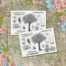 1X Silikon Stempel clear stamps  Sammelalbum Karte Kunst DIY hot NEU.~
