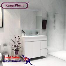 Soft Close Bathroom Vanity Unit Ceramic Square Basin Mirror Cabinet Leg 900mm