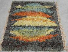 Vintage Mid Century Danish Modern Rya Style Shag Rug Or Carpet