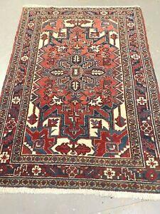 antico-swiss Beautiful Antique indoHERIZI rug  4`2 x 5`7 ft