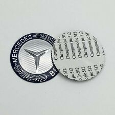 2pcs steering wheel centers stickers Wheat logo for Mercedes Benz 52mm 5.2cm MB