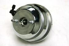 "8"" Dual Universal Chrome Power Brake Booster Muscle Car Hot Rod Rat Rod Chevy GM"