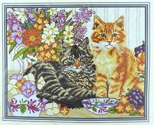 DMC Cats and Kittens - GINGER AND TABBY Counted Cross Stitch Kit #K4181