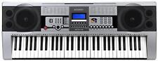 TECLADO PIANO ELECTRONICO PROFESIONAL 61 TECLAS 100 SONIDOS Y RITMOS ATRIL NUEVO