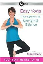 Easy Yoga: The Secret to Strength and Balance with Peggy Cappy New DVD! Ships Fa