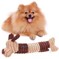 Puppy Pet Dog Cat Biting Chew Bite Funny Plush Sound Squeak Toy Cute Dogs Shape