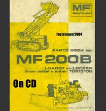 Massey Ferguson 200B 200 B Crawler Loader Dozer Tractor Parts Manual MF200B  CD