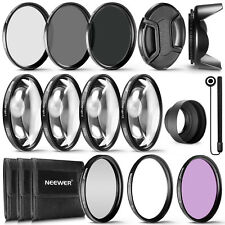 Neewer 72MM Complete Lens Filter Accessory Kit UV CPL FLD ND2 ND4 ND8