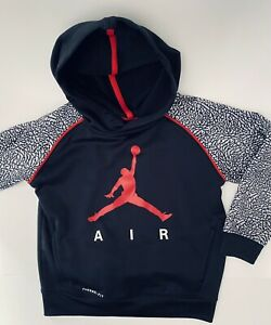 Boys Youth Nike Air Jordan Therma Fit Athletic Hoodie Jacket Sz 6 (5-6) Jumpman