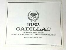 Cadillac 1982 Chassis and Body Electrical Wiring Circuit Diagrams H1920