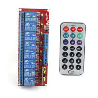 12V Multi-function Infrared Remote Control 8-Channel Relay Module Bidirectional