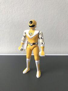 BIOMAN Jaune . Bandai 1987 Japon ? Figurine Métal et Plastique (Maskman Liveman)