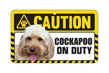 Dog Sign Caution Beware - Cockapoo