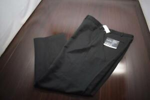 Izod Dress Pants Metrix Fit Straight Leg Black Flat Mens Size 40 x 32