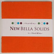 """Moda FABRIC Charm Pack ~ NEW BELLA SOLIDS ~ MULTI-COLOR ~ (9900PPN4)  30 - 5"""" sq"""