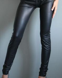 Leggings Leggins Legging schwarz Größe M mit Reißverschluss hinten wie neu