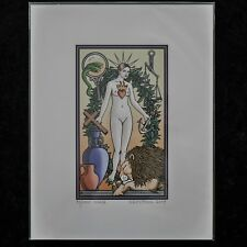 """Tarot of the Sevenfold Mystery Print """"The World"""" Signed Numbered Robert M Place"""
