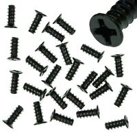 Pack of 25 4x10mm Black PC Fan Screws - Computer Case Chassis