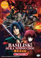 Basilisk: Ouka Ninpouchou [The Ouka Ninja Scrolls] DVD 1-24 (ENG DUB) US Seller