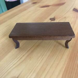 "4"" x 2"" Wood DollHouse Coffee Table"