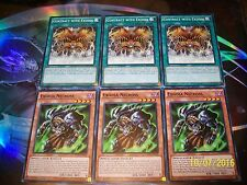 3x Exodia Necross + 3x Contract With Exodia LDK2-ENY Yu-Gi-Oh!