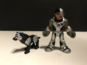Fisher Price Imaginext DC Super Friends Cyborg with Robo Dog 2 Figure Lot